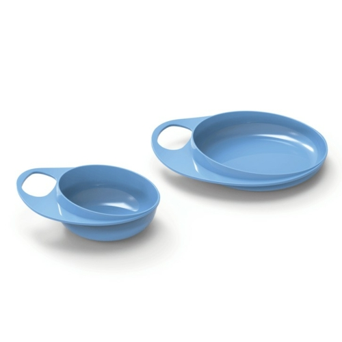 Nuvita EasyEating tál + tányér - cool blue - 8461