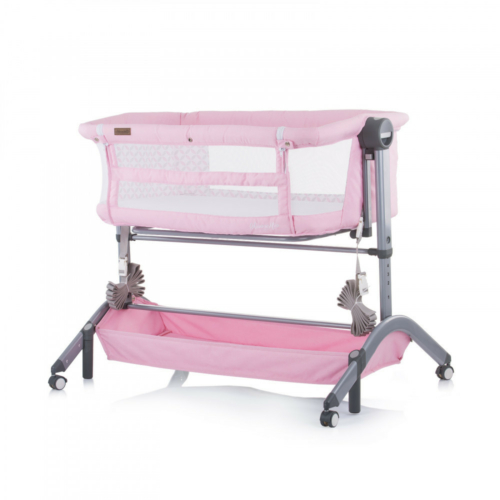Chipolino Amore Mio szülői ágyhoz csatlakoztatható kiságy - Peony pink