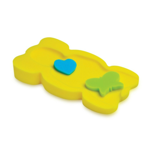 Baby Care Uni szivacs babatartó - Sárga