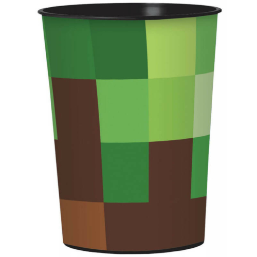 Minecraft mintás TNT pohár, műanyag, 473 ml, 1 db