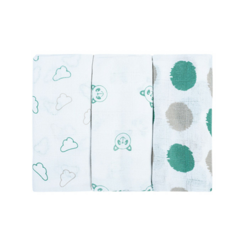 Bubaba textil pelenka 3db - Zöld