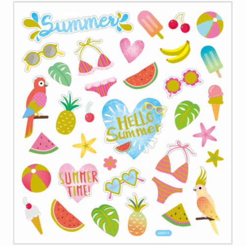 Matrica, summer holiday, nyár, 15x17cm