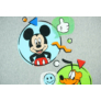 Kép 2/3 - Disney Mickey és Plútó wellsoft béléses pamut babatakaró (méret: 70x90cm)